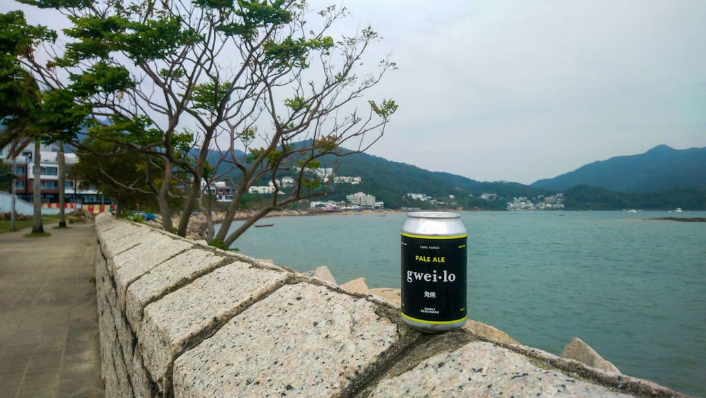 gweilo pale ale on the sai kung waterfront