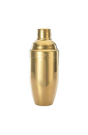 Cocktail Three-Piece Cobbler Shaker Gold