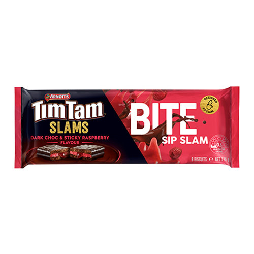 Tim Tam Tim Tam Slam Dark Choco & Sticky Raspberry 175g