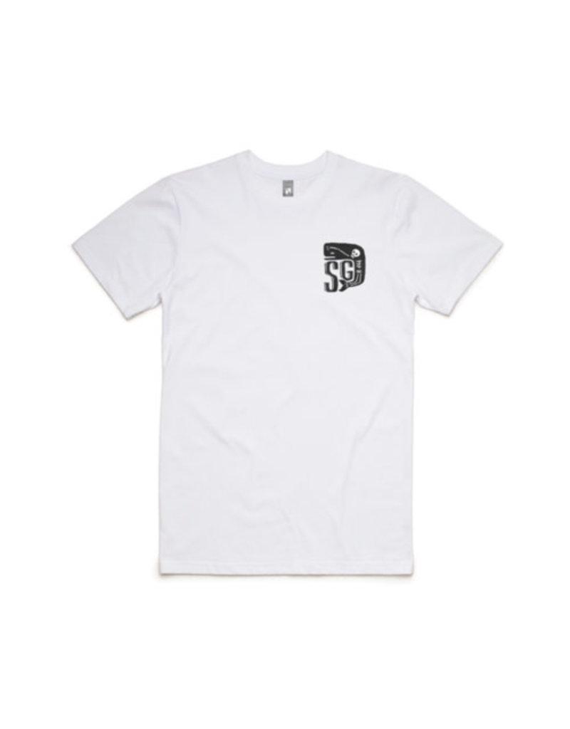Sailors Grave Brewing Sailors Grave Brewing Logo White T shirt Size XL