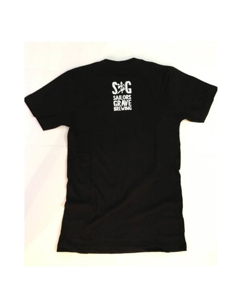 Sailors Grave Brewing Sailors Grave Black T shirt Size S