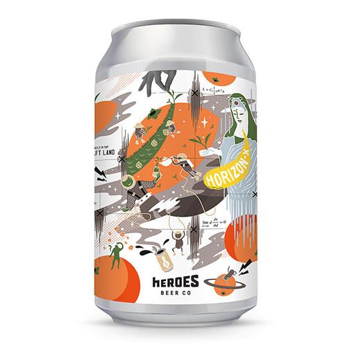 Heroes Beer Heroes Beer Horizon-X Tangerine Tie Guan Yin IPA