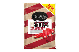 Darrell Lea Darrell Lea STIX Strawberry White Choc 220g