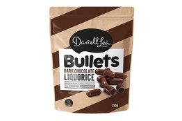 Darrell Lea Darrell Lea Dark Choc Coated Liquorice Bullets 250g