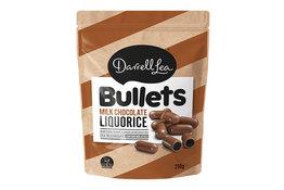 Darrell Lea Darrell Lea Milk Choc Coated Liquorice Bullets 250g