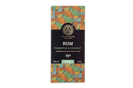 Chocolate Tree Chocolate Tree Rum Pineapple Cocounut 75% 40g