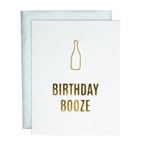 Chez Gagné Letterpress Chez Gagné Letterpress 1203 - Birthday Booze