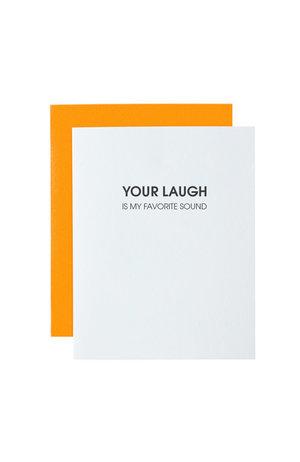 Chez Gagné Letterpress Chez Gagné Letterpress 1281 - Laugh Favorite Sound