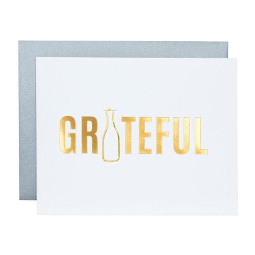 Chez Gagné Letterpress Chez Gagné Letterpress 1220 - Grateful