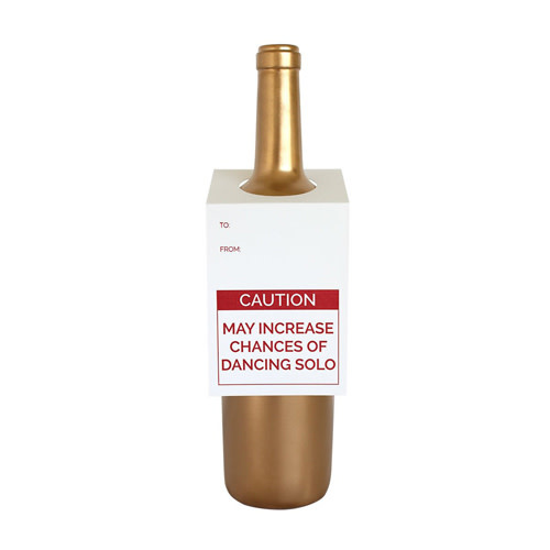 Chez Gagné Letterpress Chez Gagné Letterpress  Wine & Spirit Tag - Caution Dancing Solo