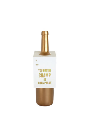 Chez Gagné Letterpress Chez Gagné Letterpress Wine & Spirit Tag - Champ In Champagne