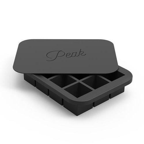 Peak Ice Works W&P Peak Ice Works Everyday Ice Tray Charcoal 3cm x 3cm