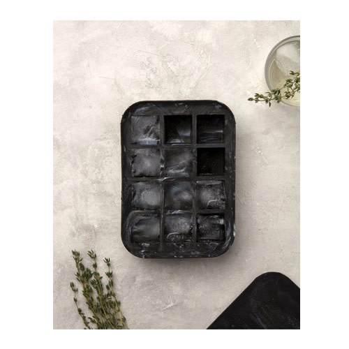 Peak Ice Works W&P Peak Ice Works Marble Everyday Ice Tray Black 3cm x 3cm