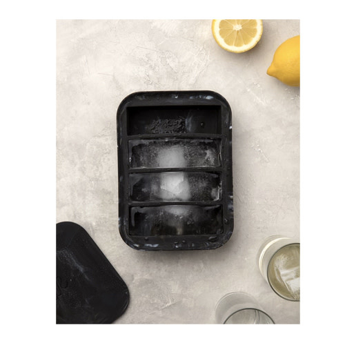 Peak Ice Works W&P Peak Ice Works Collins Ice Tray Marble Black 11cm Long