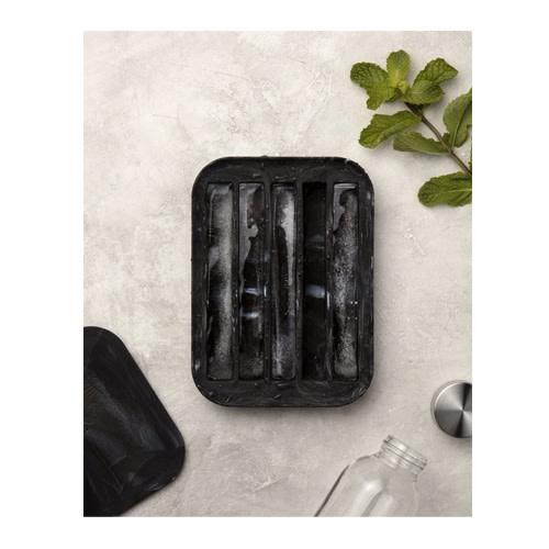 Peak Ice Works W&P Peak Ice Works Water Bottle Ice Tray Marble Black 15cm Long
