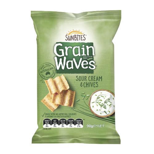 Sunbites Sunbites Grain Waves Sour Cream & Chives 90g