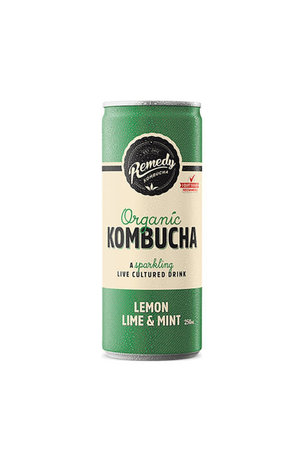 Remedy Remedy Organic Kombucha Lemon Lime & Mint can*