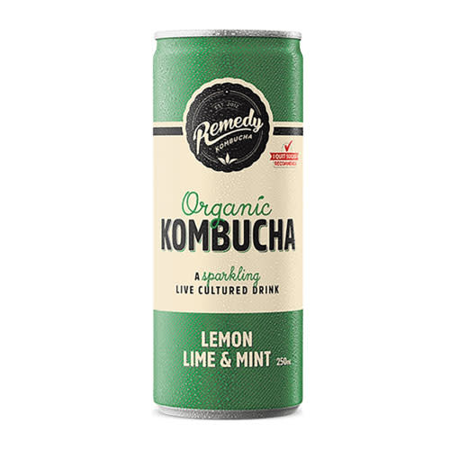 Remedy Remedy Organic Kombucha Lemon Lime & Mint can*