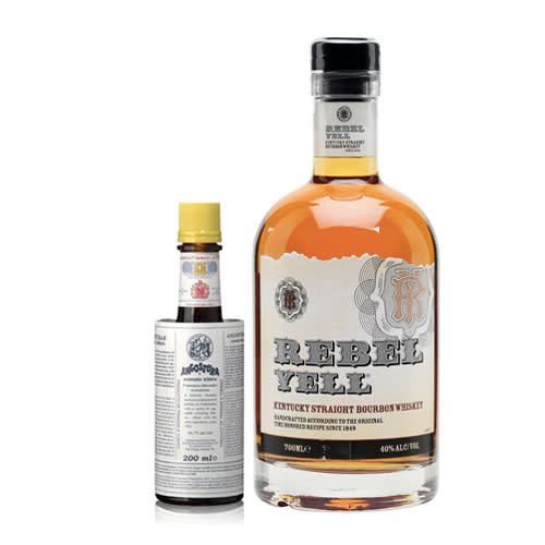 Old Fashioned Combo (Rebel Yell Straight Bourbon + Angostura Aromatic Bitters)