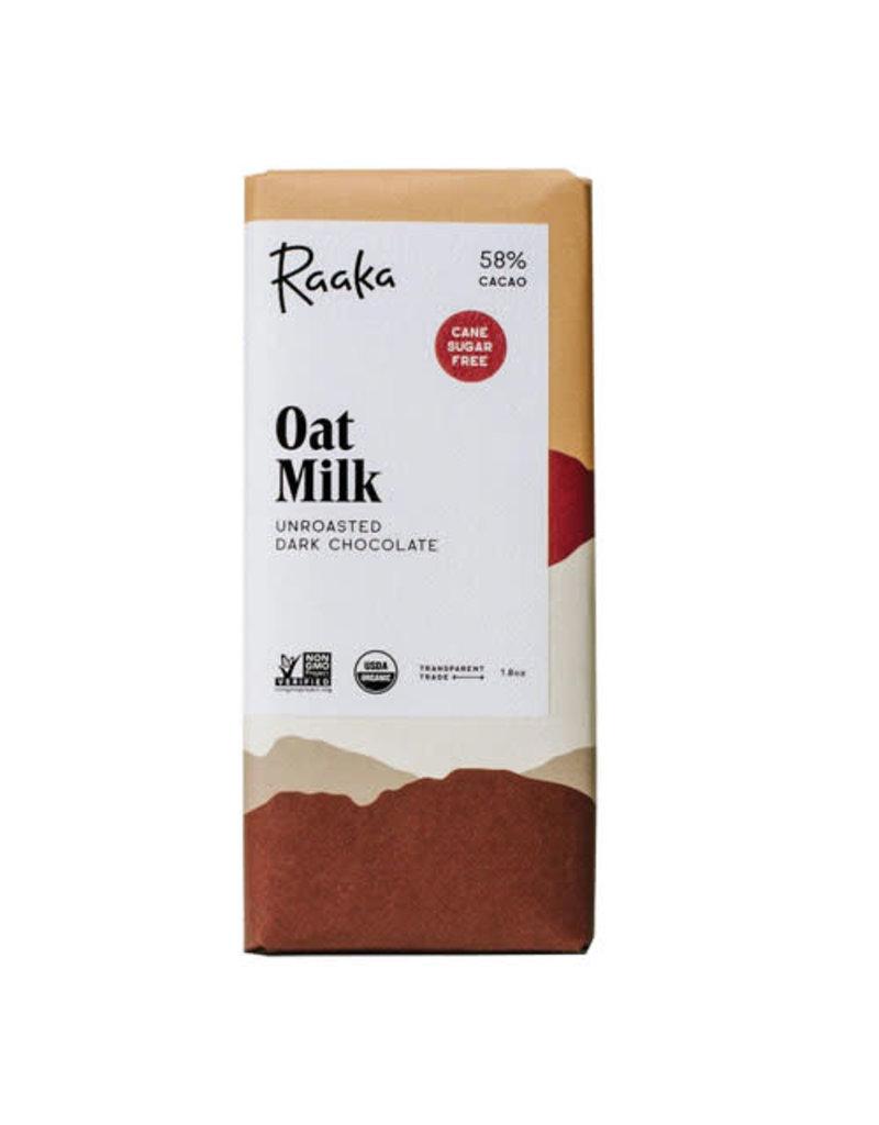 Raaka Chocolate Raaka Chocolate Oat Milk 58% 50g
