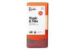 Raaka Chocolate Raaka Chocolate Maple and Nibs 75% 50g