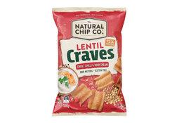 Natural Chip Co Natural Chip Co Lentil Craves Sweet Chilli & Sour Cream 100g