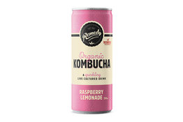 Remedy Remedy Organic Kombucha Raspberry Lemonade can
