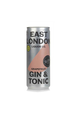 East London Liquor Co East London Liquor Grapefruit Gin and Tonic 0.5% ABV