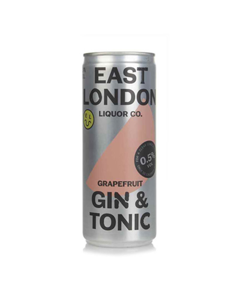East London Liquor Co East London Liquor Grapefruit Gin and Tonic 0.5% ABV