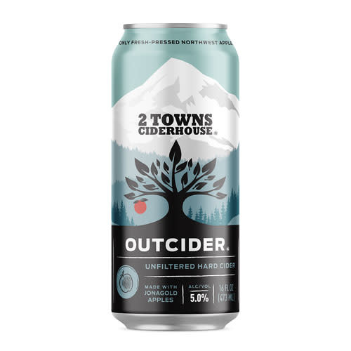 2 Towns Ciderhouse 2 Towns Ciderhouse Outcider Unfiltered Hard Cider