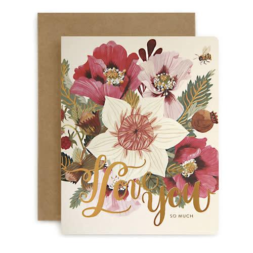 Bespoke Letter Press Bespoke Letterpress Greeting Card - I Love You (Jungle)