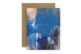 Bespoke Letter Press Bespoke Letterpress Greeting Card - Love You to the Moon and Back
