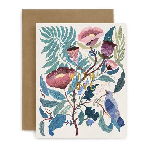 Bespoke Letter Press Bespoke Letterpress Greeting Card - With Love (Blomstra)