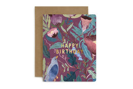 Bespoke Letter Press Bespoke Letterpress Greeting Card - Happy Birthday (Blomstra)