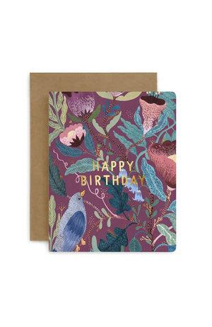 Bespoke Letter Press Bespoke Letterpress Greeting Card - Happy Birthday (Blomstra)