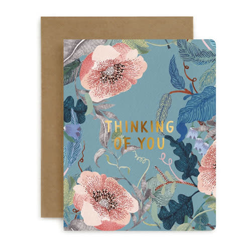 Bespoke Letter Press Bespoke Letterpress Greeting Card - Thinking Of You (Blomstra)