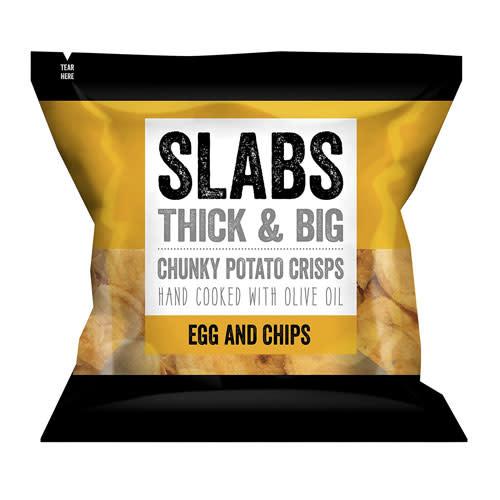 Slabs Slabs Egg & Chips Chunky Potato Crisps 80g
