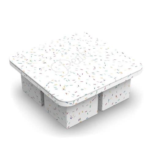 Peak Ice Works W&P Peak Ice Works Extra Large Ice Cube Tray Speckled White 5.7cm x 5.7cm