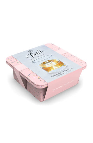 W&P Design W&P Peak Ice Works Extra Large Ice Cube Tray Speckled Pink 5.7cm x 5.7cm