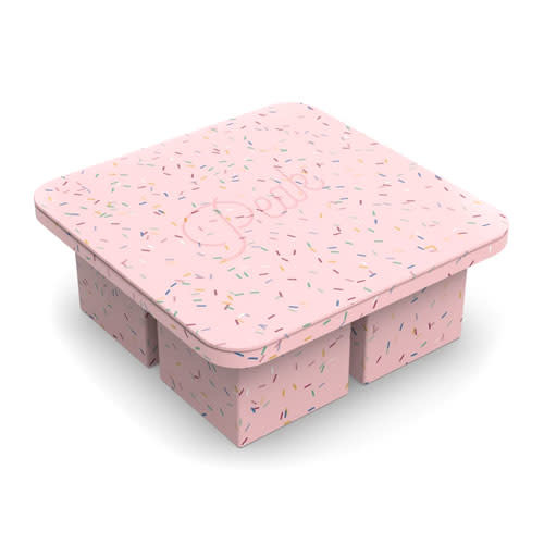 Peak Ice Works W&P Peak Ice Works Extra Large Ice Cube Tray Speckled Pink 5.7cm x 5.7cm