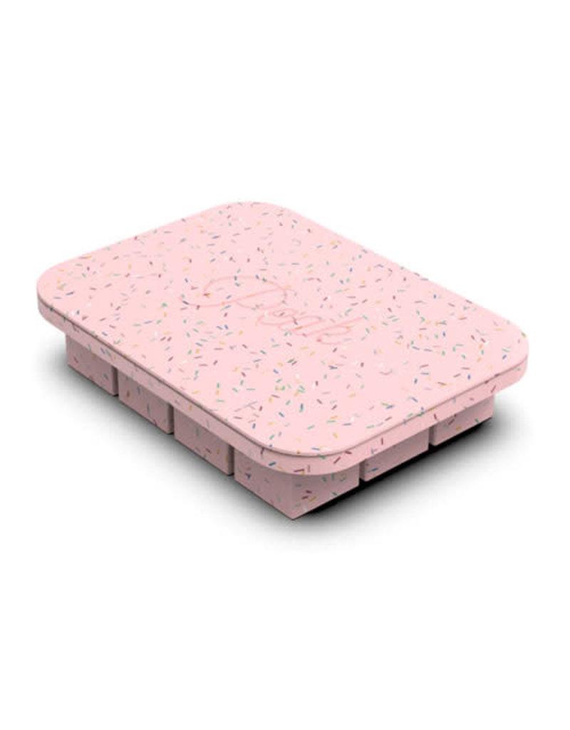 Peak Ice Works W&P Peak Ice Works Everyday Ice Tray Speckled Pink 3cm x 3cm