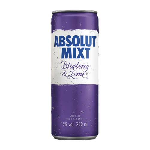 Absolut Absolut Mixt Blueberry & Lime Sparkling Pre-mixed Vodka Drink