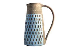 Kate Garwood Kate Garwood Stoneware Jug with Checkerboard Pattern