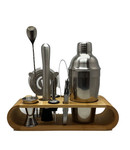 550ml Cocktail Shaker Set with Bamboo Rack