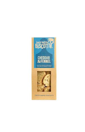 Great British Biscotti Great British Biscotti Cheddar Fennel Savoury Biscotti 100g