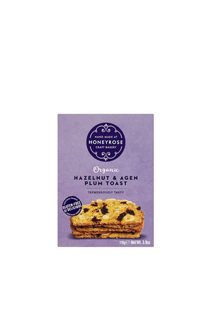 Honeyrose Honeyrose Hazelnut & French Agen Plum Toast (Gluten Free) 110g