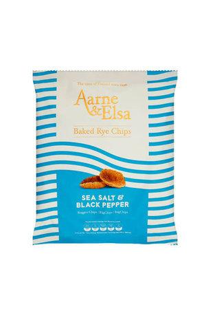 Aarne & Elsa Aarne & Elsa Sea Salt & Black Pepper Baked Rye Chips 150g