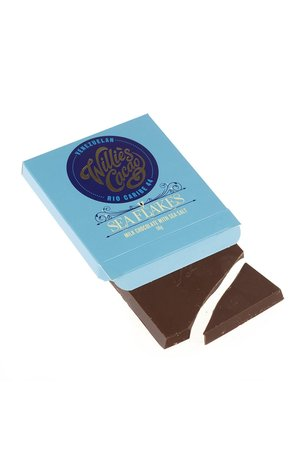 Willies Cacao Willie's Cacao Sea Flake Milk Chocolate with Sea Salt 50g