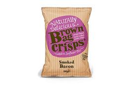 Brown Bag Crisps Smoked Bacon Crisps 150g
