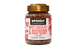 Beanies Coffee Beanies Coffee White Chocolate Raspberry Flavour Instant Coffee 50g